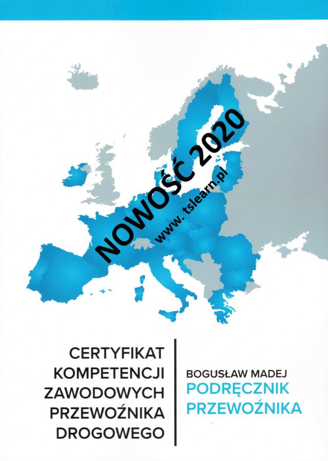 Książka certyfikat kompetencji zawodowych przewoźnika 2020
